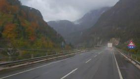 drogowa Pyrenees halna ciężarówka Spain zdjęcie wideo