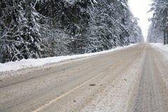 drogowa zima Zdjęcia Stock