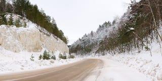 drogowa zima Obraz Royalty Free