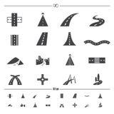 Drogowe ikony wektorowe zdjęcia royalty free