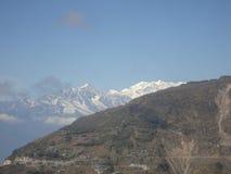 drogowe krajobrazowe wzgórze góry Obraz Royalty Free