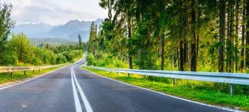 drogowe Montenegro asfaltowe góry Piękno świat Obrazy Stock