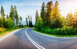drogowe Montenegro asfaltowe góry Piękno świat Obraz Stock