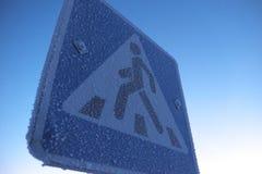 Drogowego znaka crosswalk Obraz Stock