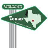 Drogowego znaka powitanie Teksas Zdjęcia Royalty Free