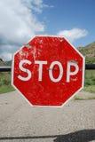 drogowego znaka przerwa obraz royalty free