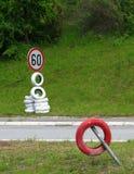 Drogowego znaka seansu prędkości ograniczenie Fotografia Stock