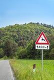 Drogowego znaka Zwierzęcy skrzyżowanie Fotografia Royalty Free
