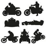 Drogowi motocykle, motocross i bieżni samochody, Zdjęcia Royalty Free