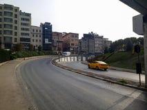 Drogowi Nowożytni Historyczni budynki Sishane Istanbuł zdjęcie royalty free