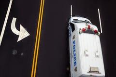 Drogowi ocechowania na asfalcie na ulicie Manhattan Obraz Stock