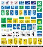 drogowi ustaleni znaki signboards Obraz Royalty Free