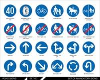 drogowi ustaleni znaki signboards Obrazy Royalty Free
