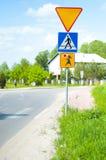 drogowi znaki Zdjęcia Stock