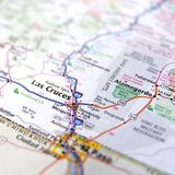 Drogowy atlant Nowy Las Cruces - Mexico fotografia stock
