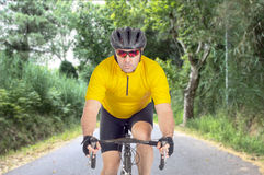 Drogowy cyklista Zdjęcie Royalty Free