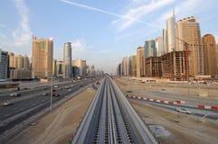 drogowy Dubai sheikh zayed zdjęcie royalty free