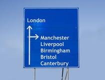 drogowy England znak Zdjęcia Royalty Free