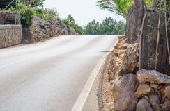 Drogowy grzebień Mallorca Obraz Royalty Free