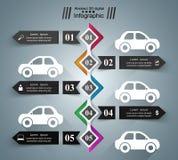 Drogowy infographic projekta szablon i marketingowe ikony samochodowy eps10 ikony ilustraci wektor Zdjęcia Royalty Free