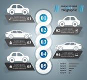 Drogowy infographic projekta szablon i marketingowe ikony samochodowy eps10 ikony ilustraci wektor Zdjęcie Stock