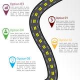 Drogowy infographic szablon Zdjęcie Royalty Free