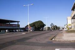 Drogowy kłoszenie W kierunku centrum miasta w Durban Południowa Afryka Obrazy Royalty Free