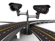 drogowy kamera asfaltujący biel royalty ilustracja