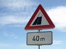 drogowy końcówka znak Obraz Royalty Free