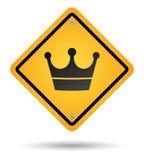 drogowy korona znak Zdjęcie Stock