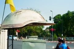 Drogowy milicyjny punkt kontrolny, Tajlandzki Zdjęcie Royalty Free
