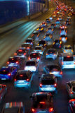 drogowy noc ruch drogowy Obraz Stock