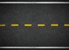 Drogowy odgórny widok Asfaltowe autostrady linii oceny Fotografia Stock
