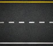 Drogowy odgórny widok Asfaltowe autostrady linii oceny Zdjęcia Royalty Free