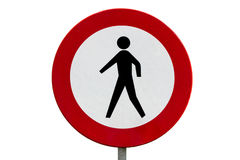 drogowy pedestrians żadny znak Zdjęcie Royalty Free