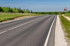 Drogowy prowadzić daleko w odległość fotografia stock