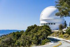 Drogowy prowadzić Shane teleskop, część liźnięcie Obserwatorski kompleks na górze Mt Hamilton zdjęcie royalty free