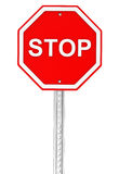 Drogowy przerwa znak Zdjęcia Royalty Free