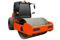 Drogowy rolownik dla glebowego compaction obraz royalty free