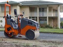 Drogowy rolownik używać w drogowych pracach obrazy royalty free