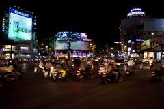 Drogowy ruch drogowy w Saigon Fotografia Stock