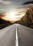 drogowy słońce Fotografia Royalty Free