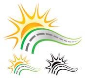 Drogowy słońce logo Zdjęcie Royalty Free