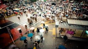 Drogowy skrzyżowanie przy sławną ruchliwą ulicą Shibuya przy Tokio zdjęcie royalty free