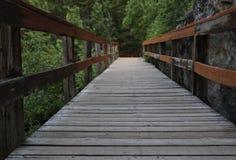Drogowy sposób, chodzi stronę, suwak, drewniany chodzący schodek obraz royalty free