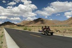 drogowy Tibet zdjęcia royalty free