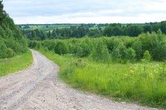 drogowy wiejski piaskowaty Zdjęcia Royalty Free