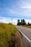 drogowy wiejski vertical fotografia stock