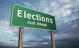 drogowy wybory znak Zdjęcia Stock