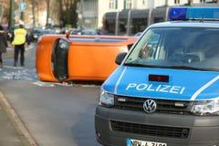 Drogowy wypadek uliczny Zdjęcia Royalty Free